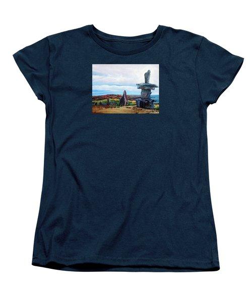 Inukshuk Women's T-Shirt (Standard Cut) by Marilyn  McNish