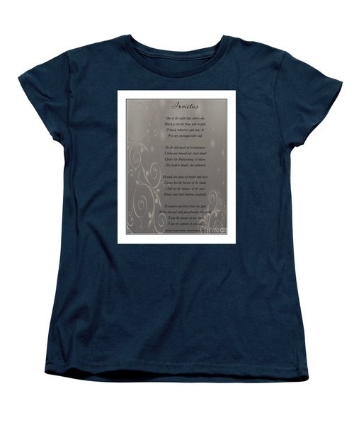 Invictus Tribute 2 Women's T-Shirt (Standard Cut) by Bobbee Rickard