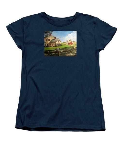 Iowa Farm Women's T-Shirt (Standard Cut) by Lee Piper
