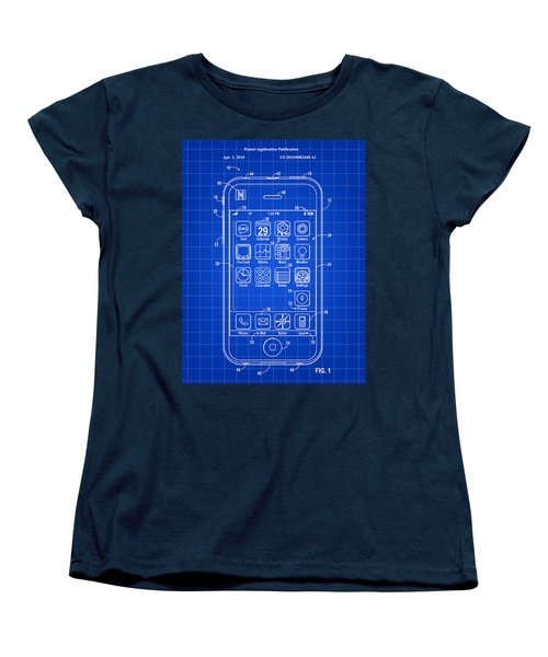 iPhone Patent - Blue Women's T-Shirt (Standard Cut) by Stephen Younts