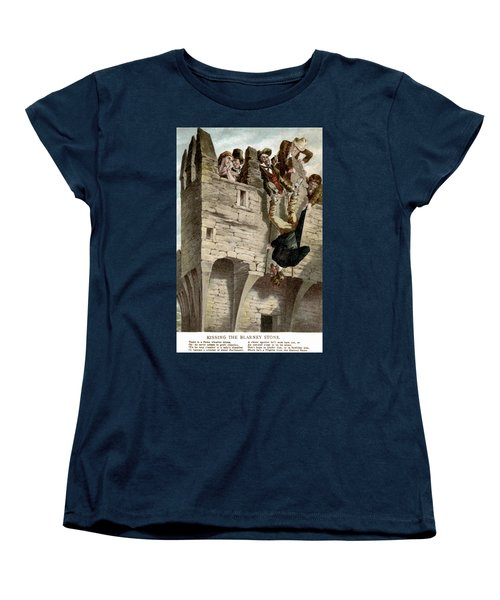 Women's T-Shirt (Standard Cut) featuring the painting Ireland The Blarney Stone by Granger