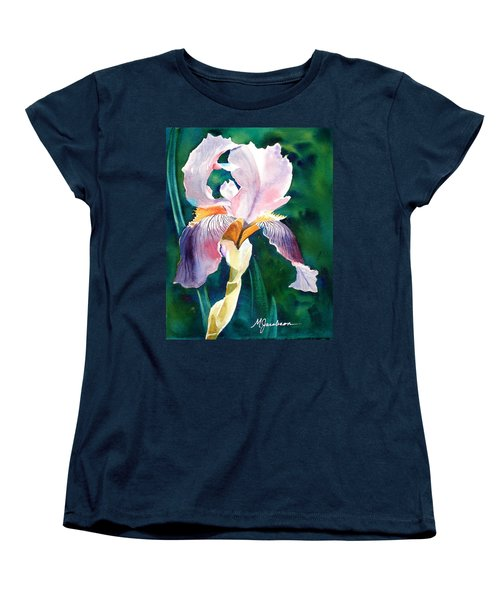 Women's T-Shirt (Standard Cut) featuring the painting Iris 1 by Marilyn Jacobson