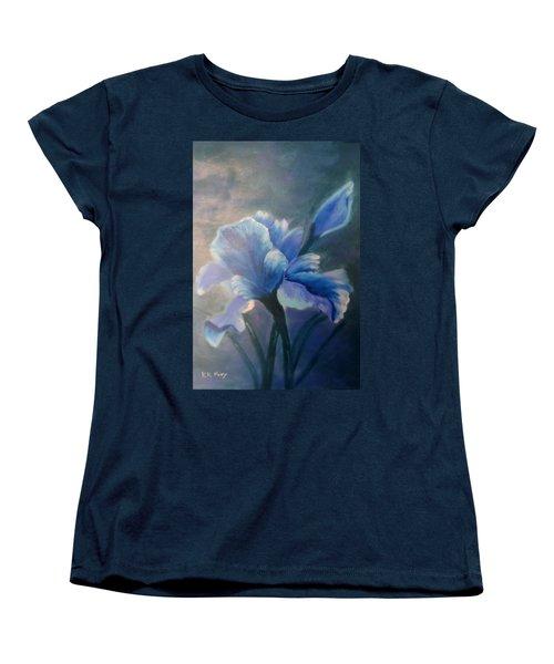 Iris Blue Women's T-Shirt (Standard Cut) by Kay Novy