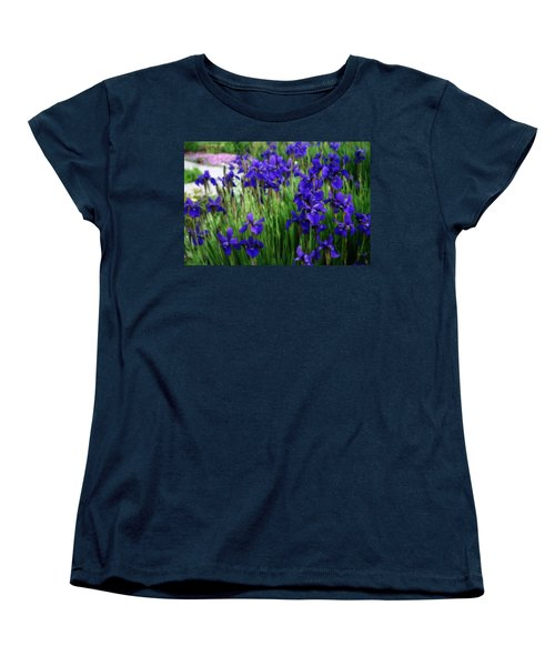 Women's T-Shirt (Standard Cut) featuring the photograph Iris In The Field by Kay Novy