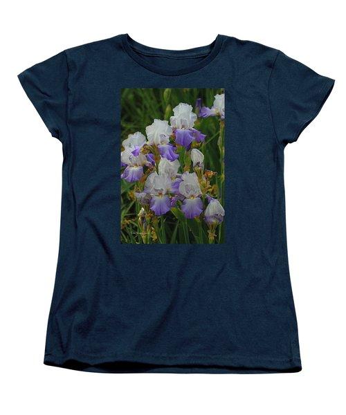 Iris Patch At The Arboretum Women's T-Shirt (Standard Cut) by Tom Janca