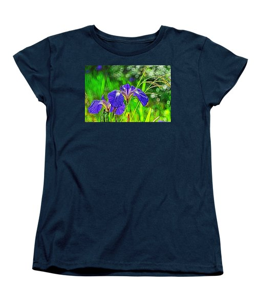 Women's T-Shirt (Standard Cut) featuring the photograph Irises by Cathy Mahnke
