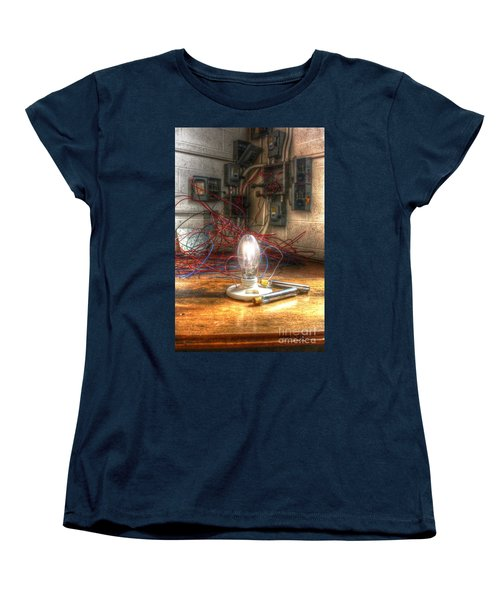 Is This Right Mr. Edison? Women's T-Shirt (Standard Cut) by Dan Stone
