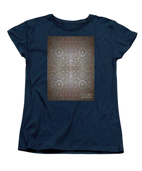 Islamic Wooden Texture Women's T-Shirt (Standard Cut) by Antony McAulay