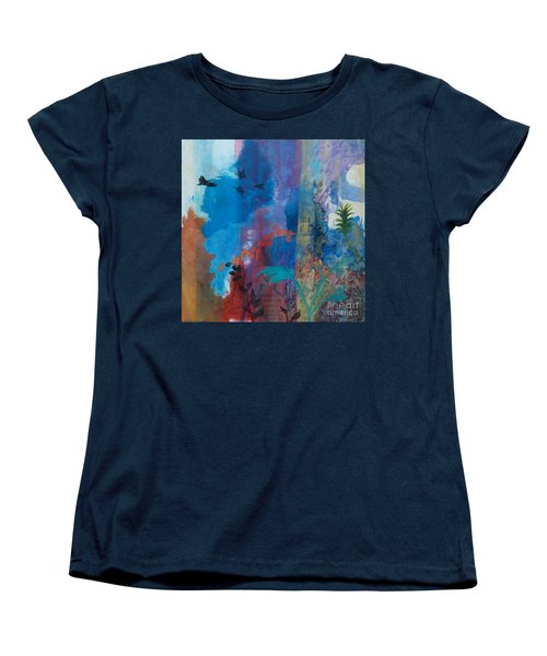 Women's T-Shirt (Standard Cut) featuring the painting It Ain't A Fable Baby by Robin Maria Pedrero