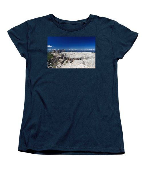 Italian Dolomites - Sella Group Women's T-Shirt (Standard Cut) by Antonio Scarpi