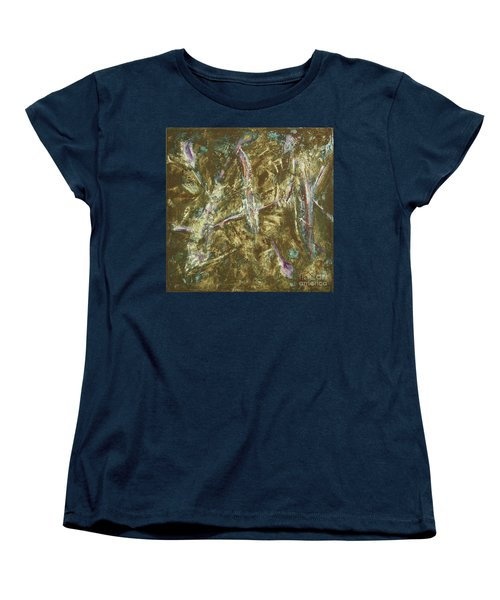 Women's T-Shirt (Standard Cut) featuring the painting It's Crazy Out There by Mini Arora