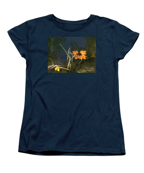 It's Over - Leafs On Pond Women's T-Shirt (Standard Cut) by Brenda Brown