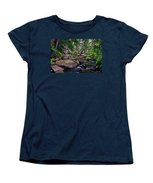 Women's T-Shirt (Standard Cut) featuring the photograph Ivanhoe Serenity by Jeremy Rhoades