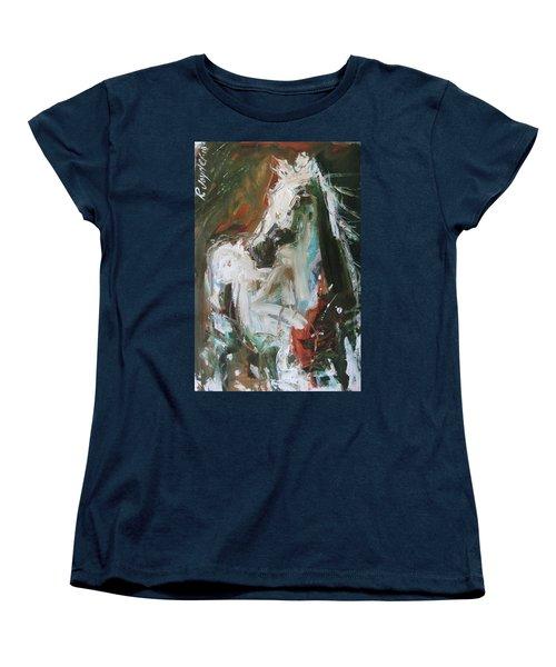 Women's T-Shirt (Standard Cut) featuring the painting Ivory by Robert Joyner