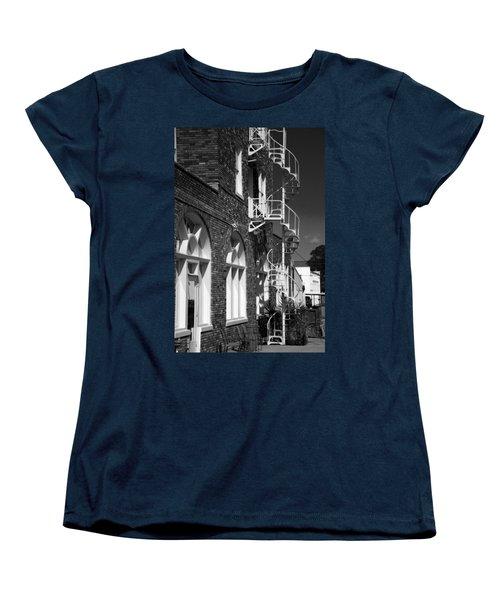 Jacaranda Hotel Fire Escape Women's T-Shirt (Standard Cut) by Beverly Stapleton