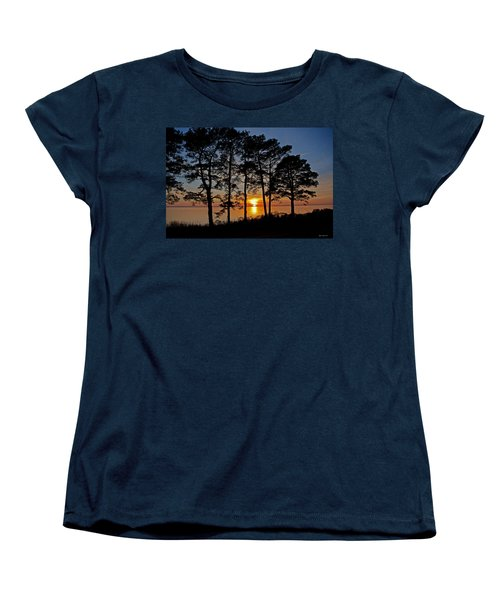 James River Sunset Women's T-Shirt (Standard Cut) by Suzanne Stout