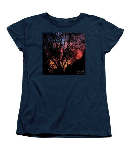Women's T-Shirt (Standard Cut) featuring the photograph January Dawn by Luther Fine Art