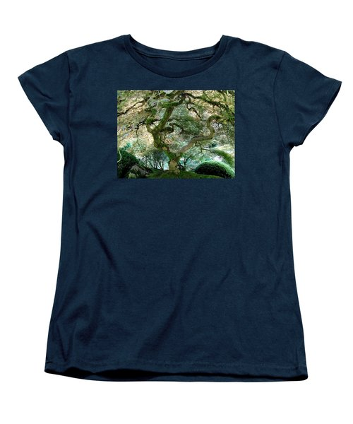Women's T-Shirt (Standard Cut) featuring the photograph Japanese Maple Tree II by Athena Mckinzie