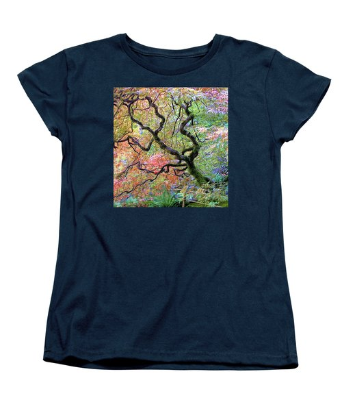 Women's T-Shirt (Standard Cut) featuring the photograph Japanese Maple by Wendy McKennon