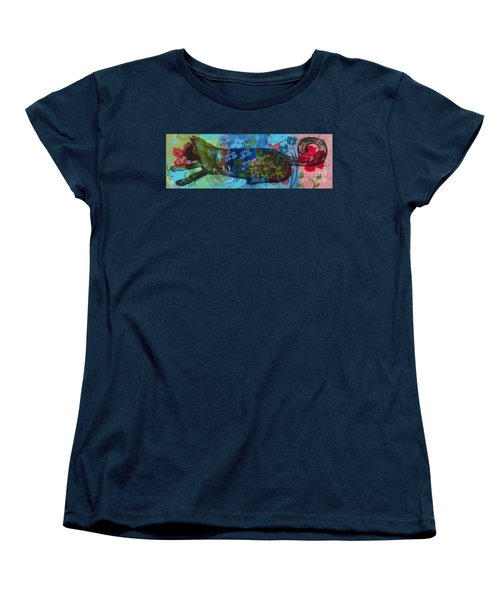 Women's T-Shirt (Standard Cut) featuring the painting Jardine Cat by Robin Maria Pedrero