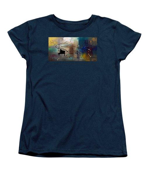 Jazz Night Women's T-Shirt (Standard Cut) by Carmen Guedez
