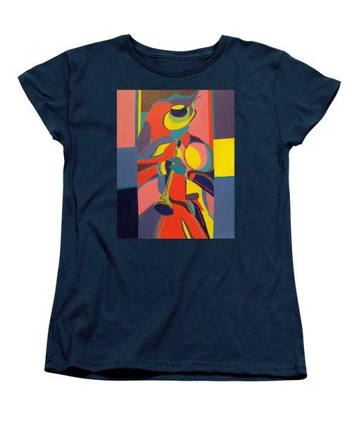 Jazzamatazz Horn Women's T-Shirt (Standard Cut) by Angelo Thomas