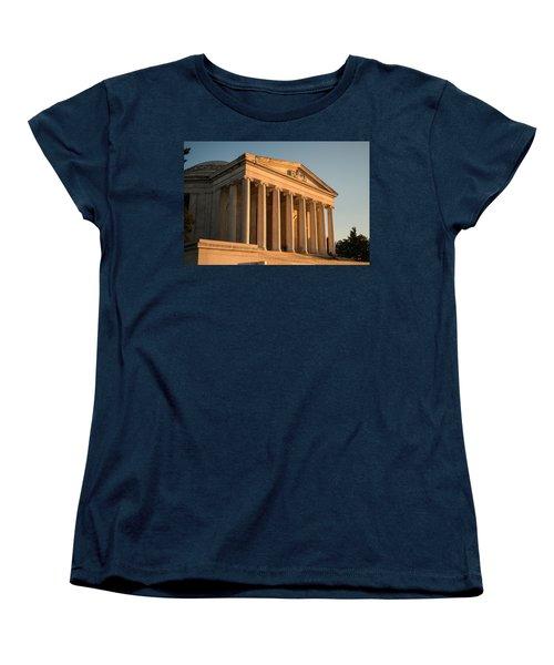 Jefferson Memorial Sunset Women's T-Shirt (Standard Cut) by Steve Gadomski