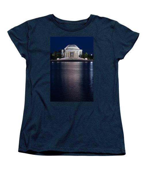 Jefferson Memorial Washington D C Women's T-Shirt (Standard Cut) by Steve Gadomski