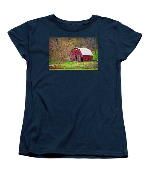 Jemerson Creek Barn Women's T-Shirt (Standard Cut) by Cricket Hackmann