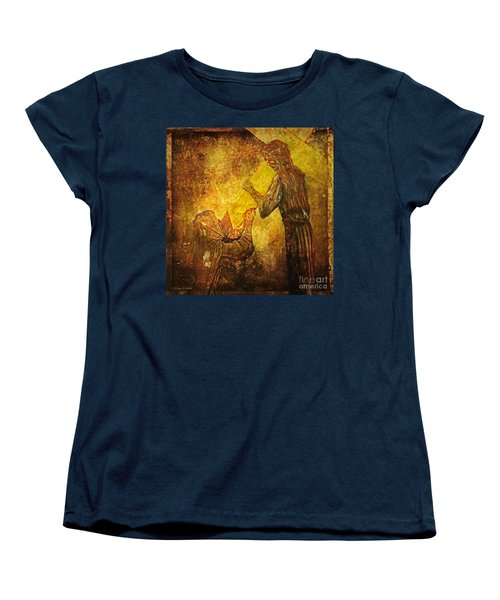 Jesus Meets His Mother Via Dolorosa 4  Women's T-Shirt (Standard Cut) by Lianne Schneider