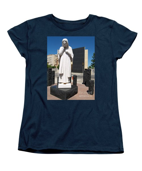Women's T-Shirt (Standard Cut) featuring the painting Jesus Wept by Robin Maria Pedrero