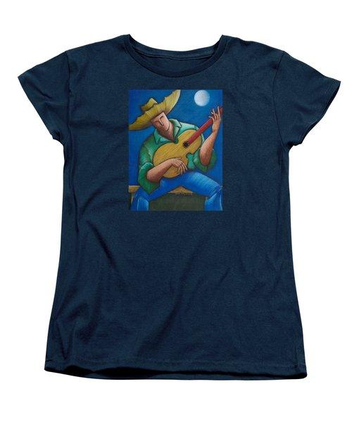 Jibaro Bajo La Luna Women's T-Shirt (Standard Cut) by Oscar Ortiz