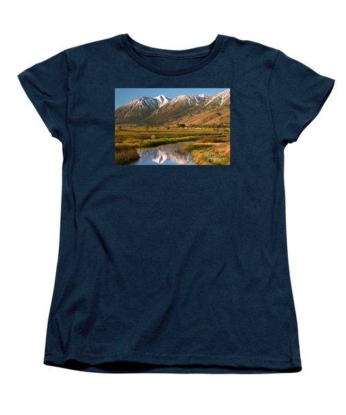 Job's Peak Reflections Women's T-Shirt (Standard Cut) by James Eddy