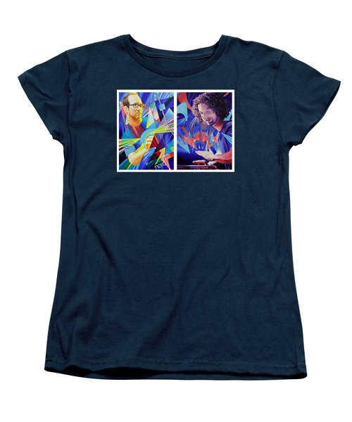 Women's T-Shirt (Standard Cut) featuring the painting Joel And Andy by Joshua Morton