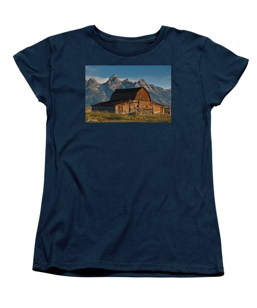 Women's T-Shirt (Standard Cut) featuring the photograph John And Bartha Moulton Barn by Jeff Goulden