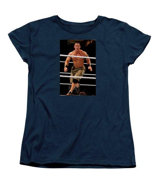 John Cena In Action Women's T-Shirt (Standard Cut) by Paul  Wilford