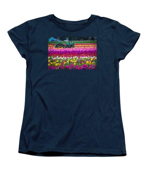 John Deere In Spring Women's T-Shirt (Standard Cut) by Patricia Babbitt