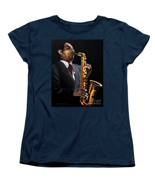 Johnny And The Sax Women's T-Shirt (Standard Cut) by Barbara McMahon