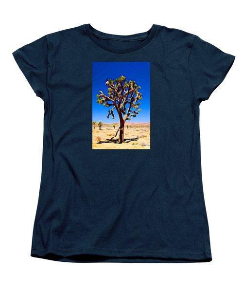 Joshua Tree Dark Women's T-Shirt (Standard Cut) by Jeff Iverson