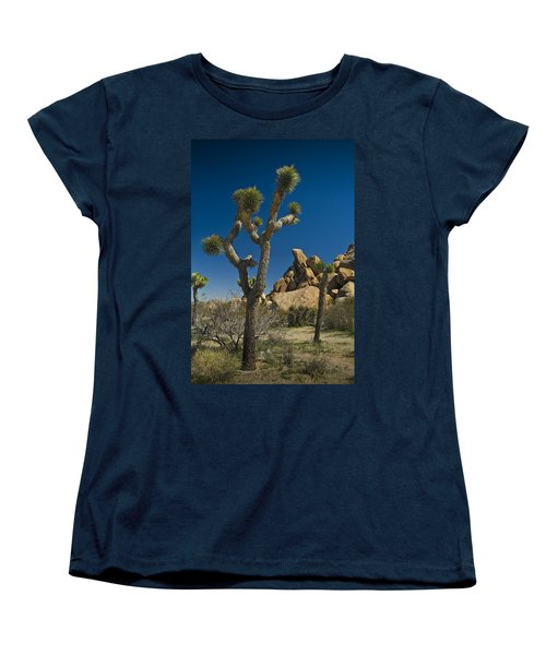 California Joshua Trees In Joshua Tree National Park By The Mojave Desert Women's T-Shirt (Standard Cut)