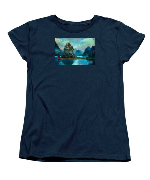 Women's T-Shirt (Standard Cut) featuring the digital art Journeys End by Aimee Stewart