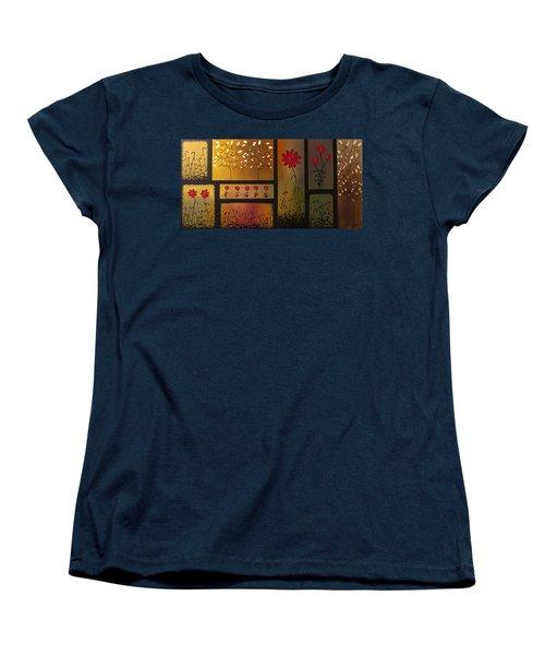 Joyful Garden Women's T-Shirt (Standard Cut) by Carmen Guedez