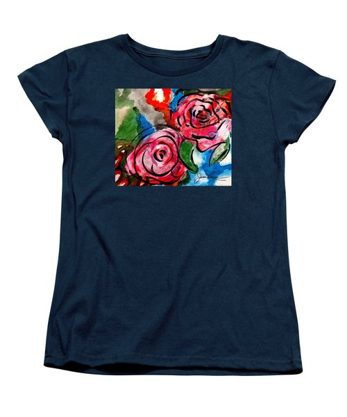 Juicy Red Roses Women's T-Shirt (Standard Cut) by Joan Reese