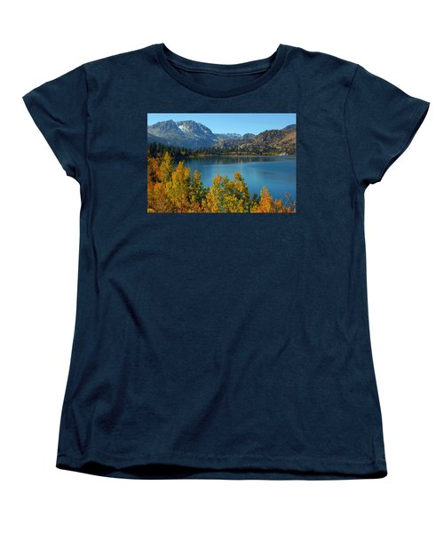 Women's T-Shirt (Standard Cut) featuring the photograph June Lake Blues And Golds by Lynn Bauer