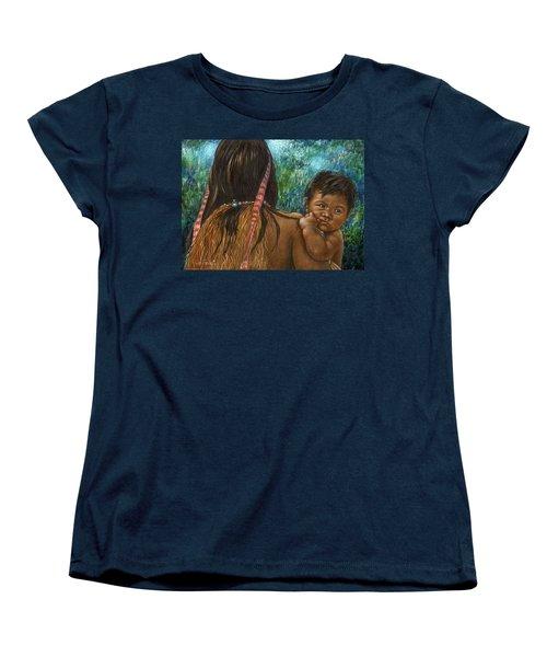 Jungle Family Women's T-Shirt (Standard Cut) by Sandra LaFaut