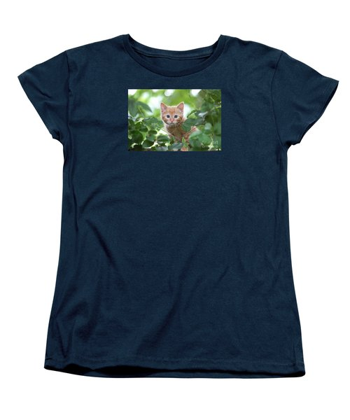 Jungle Kitty Women's T-Shirt (Standard Cut) by Debbie Green