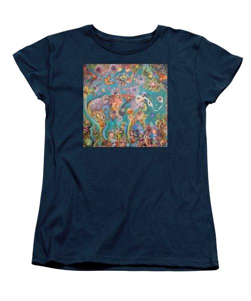 Jungledelphia Women's T-Shirt (Standard Cut) by Douglas Fromm
