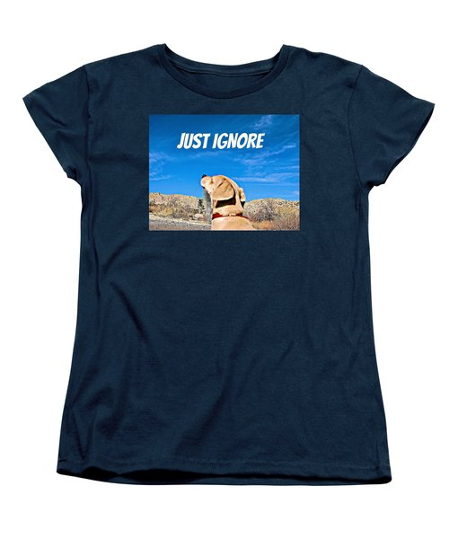 Women's T-Shirt (Standard Cut) featuring the photograph Just Ignore by Angela J Wright
