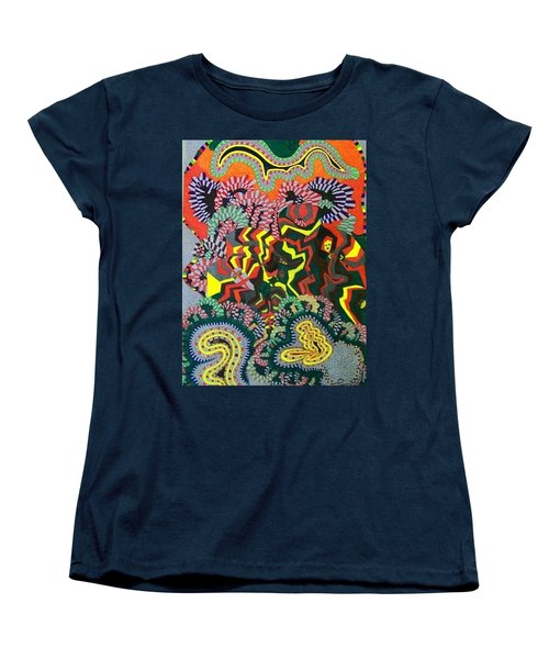 Women's T-Shirt (Standard Cut) featuring the painting Just Look Two by Jonathon Hansen