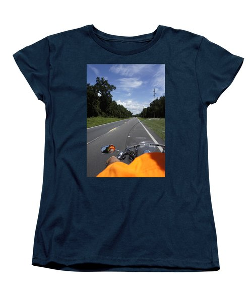 Just Ride Women's T-Shirt (Standard Cut) by Laurie Perry